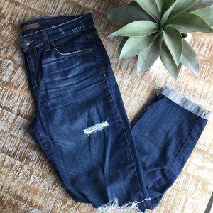 Joe's Distressed Straight Crop Jeans